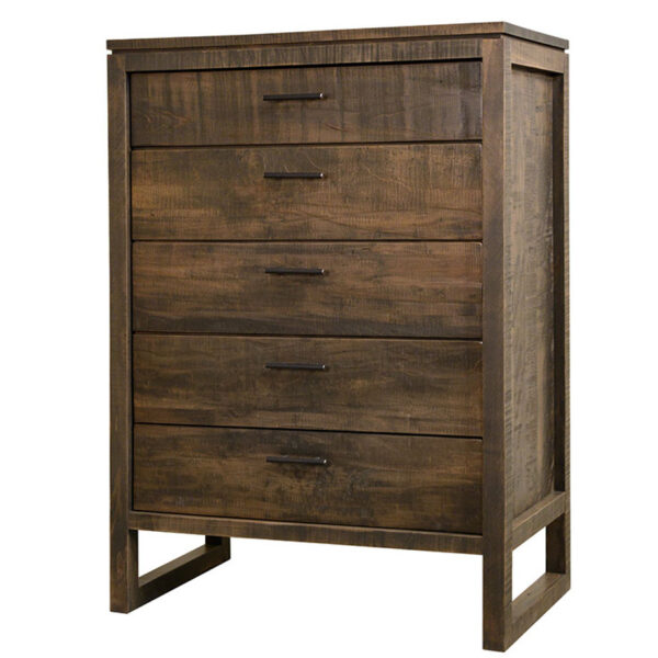 canadian made tempus chest of drawers in distressed wood