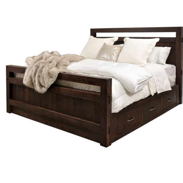 under bed drawers on the canadian made timber bed with drawers