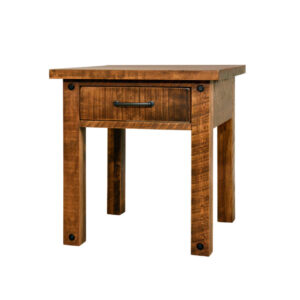 canadian made ruff sawn adirondack end table in solid wood