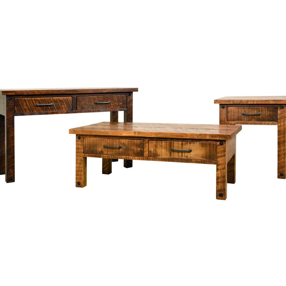 coffee table, solid wood, rustic maple, ruff sawn, modern, urban, contemporary, adirondack coffee table, adirondack end table, adirondack sofa table