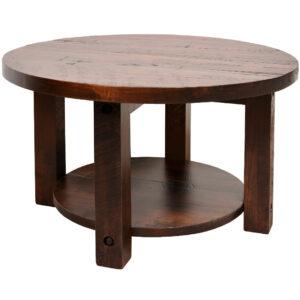 coffee table, solid wood, rustic maple, ruff sawn, modern, urban, contemporary, adirondack round coffee table