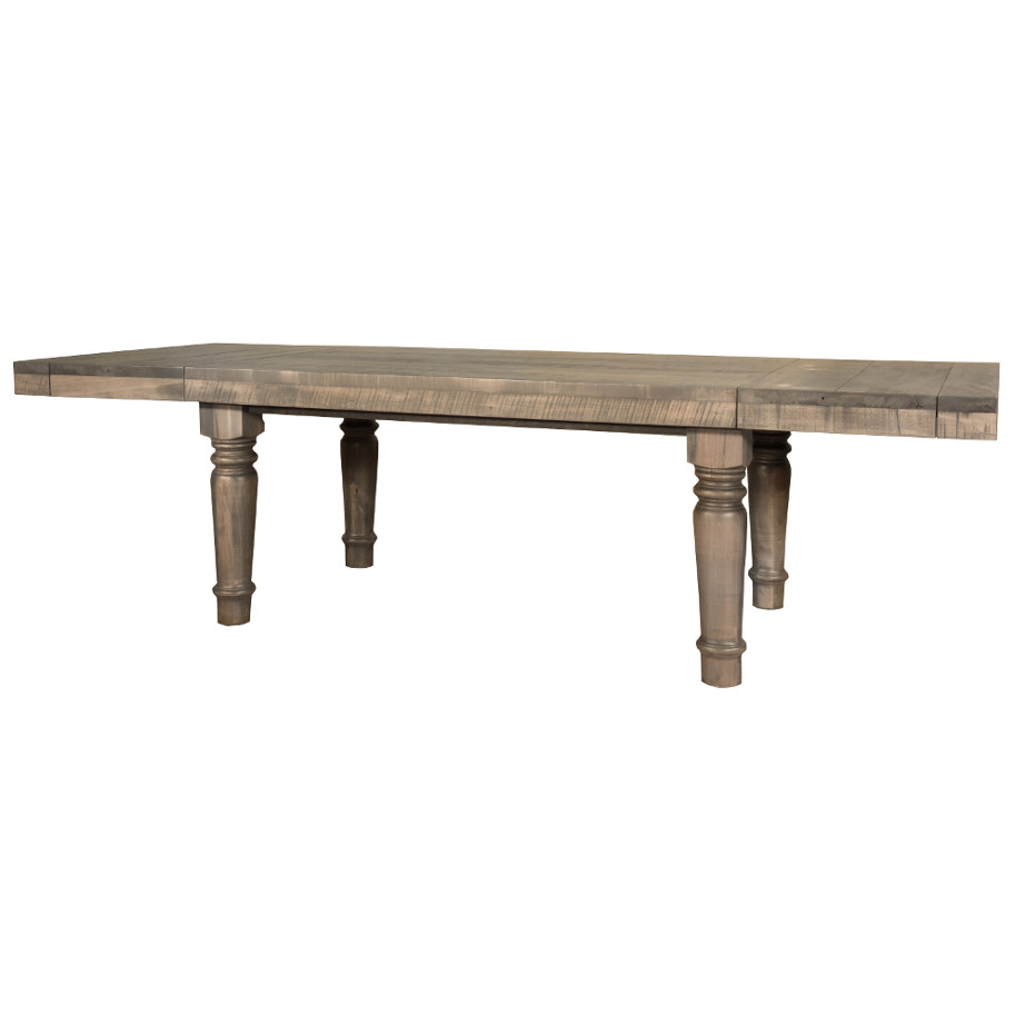 solid wood, rustic wood, reclaimed wood, ruff sawn, ruff sawn furniture, table, dining table, extension table, leaves, farmhouse, urban, modern, traditional, distressed table, bakers table