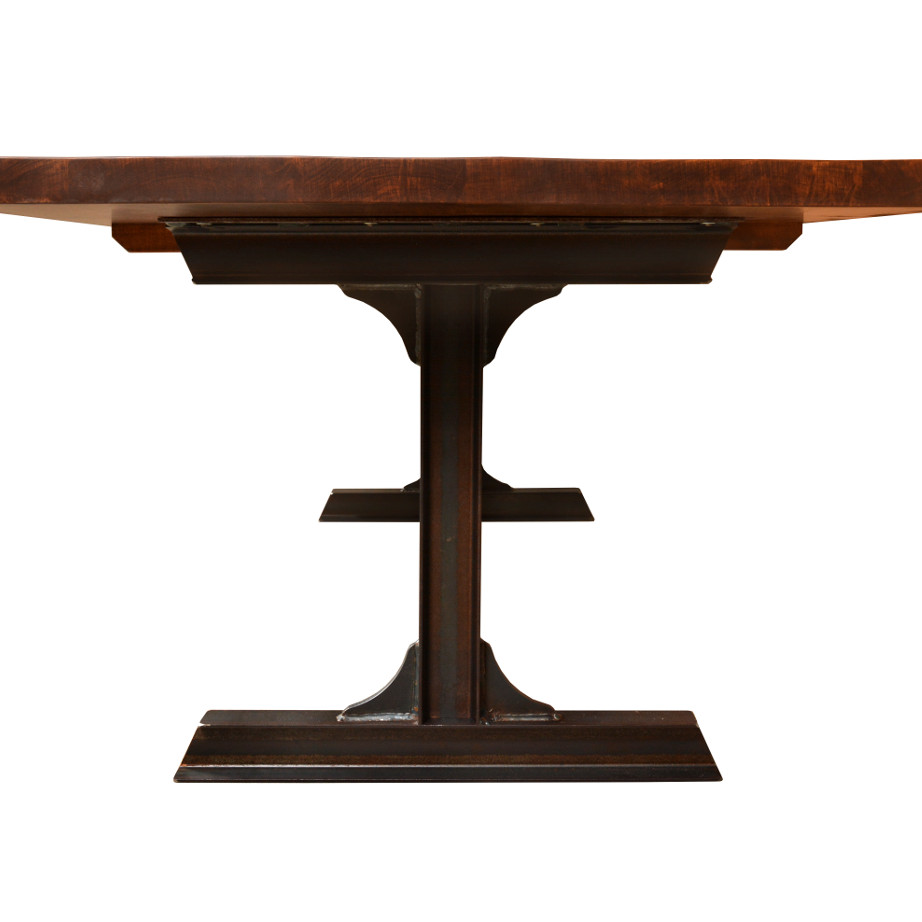 solid wood, rustic wood, reclaimed wood, ruff sawn, ruff sawn furniture, table, dining table, extension table, leaves, farmhouse, urban, modern, traditional, distressed table, bathurst live edge table