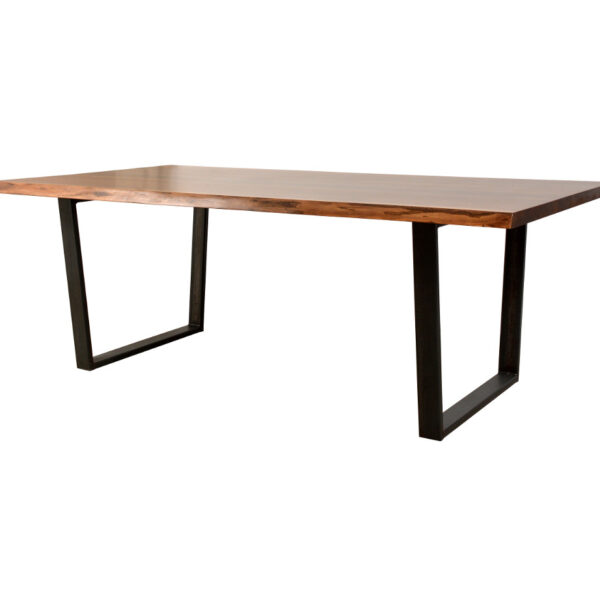 live edge, live edge table, metal base table, metal and wood table, solid wood table, rustic table, live edge table, reclaimed table, metal base, contemporary wood table, urban modern, ruff sawn furniture, solid wood, made in canada, bogart live edge table