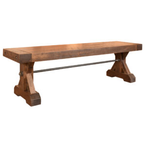 canadian made, solid wood chesapeake bench with rustic maple finish