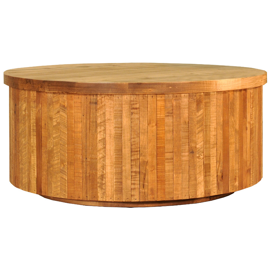 Modern Rustic Coffee Table Canada: Ledge Rock Round Coffee Table