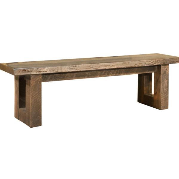 modern rustic wood modelli live edge bench