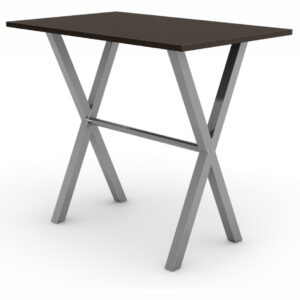 amisco alex pub table with dark wood top