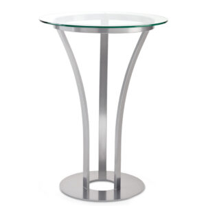 modern style dhalia pub table with glass top in custom counter height