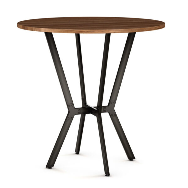 canadian made rustic industrial norcross pub table