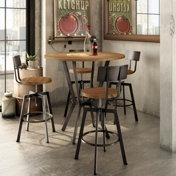 amsico norcross pub table with counter height stools