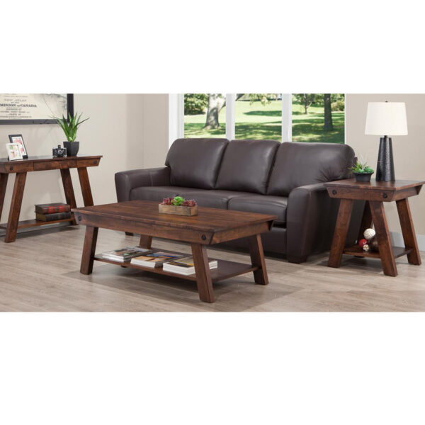 custom made algoma living room collection shown with custom size coffee table