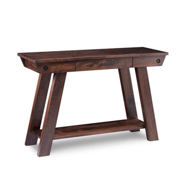 algoma sofa table, made in canada, handstone furniture, custom furniture, rustic furniture