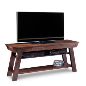 modern farmhouse algoma tv console with open shelf