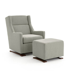 Mandini Glider Chair, best home furnishings, glider chair, custom chair, ottoman, custom furniture