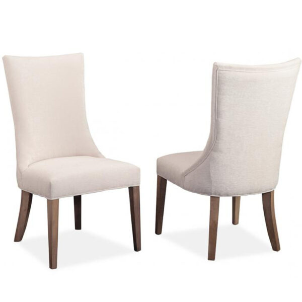 canadian made monticello upholstered chair for dining table with solid wood legs