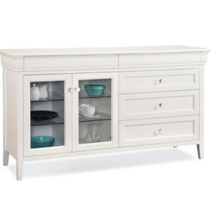 Handstone furniture, made in canada, custom furniture, painted furniture, white furniture, Monticello Sideboard