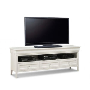monticello tv console, handstone furniture, custom furniture, traditional furniture, classic furniture, white furniture, painted furniture