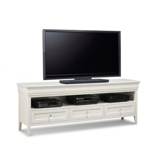 monticello tv console, handstone furniture, custom furniture, traditional furniture, classic furniture, white furniture, painted furniture