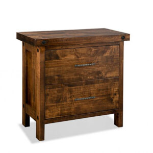 solid wood rafters file cabinet with 2 file drawers