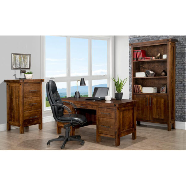 handstone rafters office shown as complete home office display