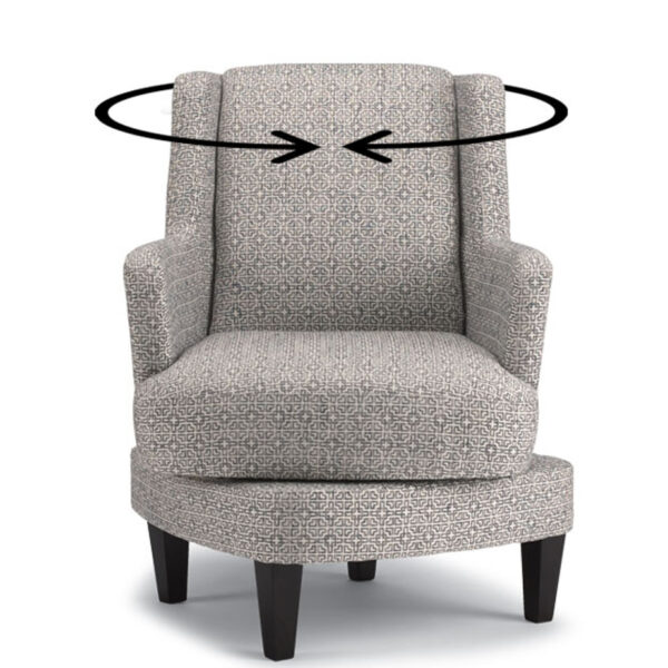 Violet Swivel Chair, best home furnishings, made in usa, custom chair, custom furniture, swivel chair