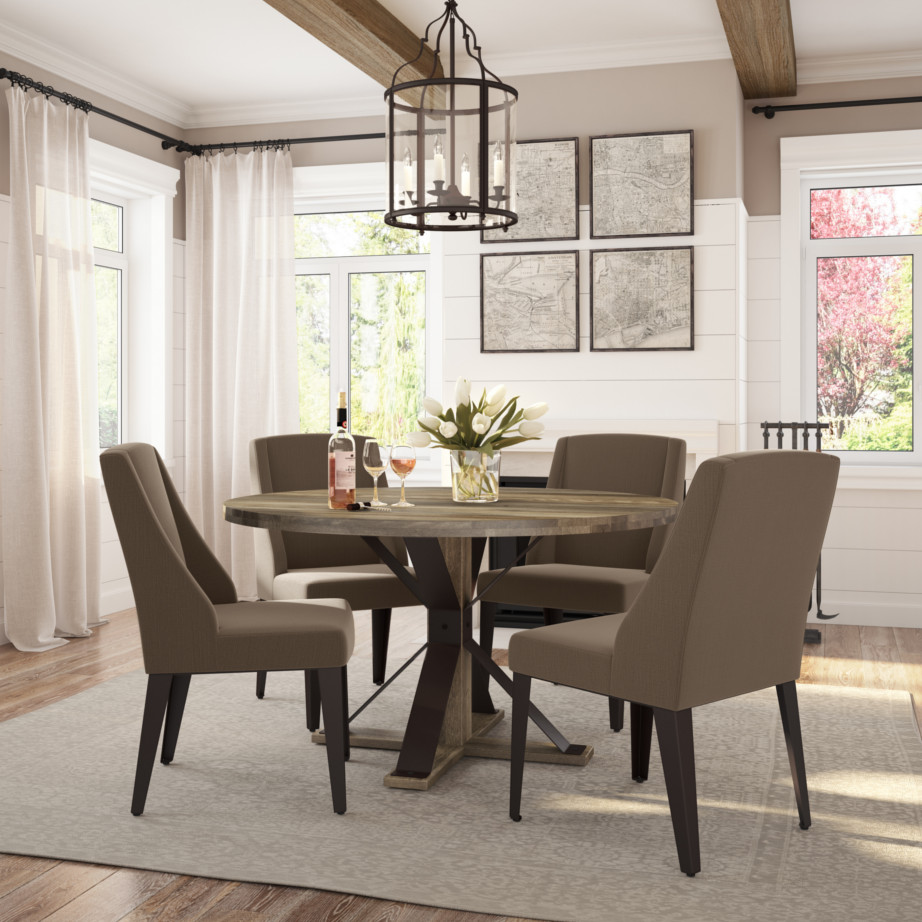 Bridget Dining Chair   Upholstered Wing Dining Chair I Home Envy