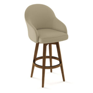 made in canada collin swivel stool with solid wood base