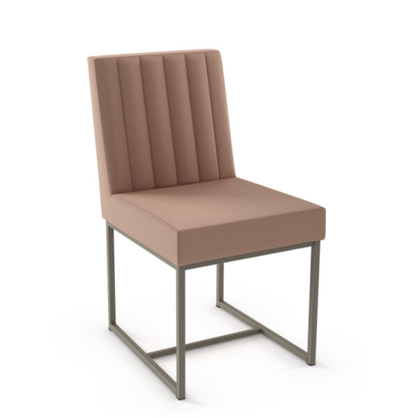 modern channel back darcy dining chair with custom fabric