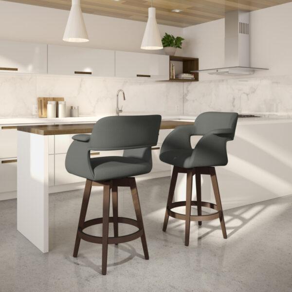 amisco industries, metal furniture, made in canada, custom furniture, bar stool, counter stool, swivel stool, island stool, custom fabric, joshua stool