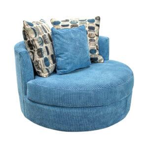 custom chair, round chair, cuddle chair, swivel chair, made in canada, elite sofas, lennox swivel chair