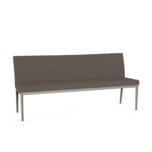 amisco monroe upholstered bench with back in custom fabric