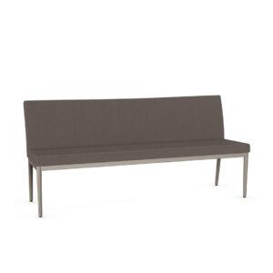 monroe upholstered bench, amisco industries, metal furniture, made in canada, custom furniture, bar stool, counter stool, swivel stool, island stool, custom fabric, mo