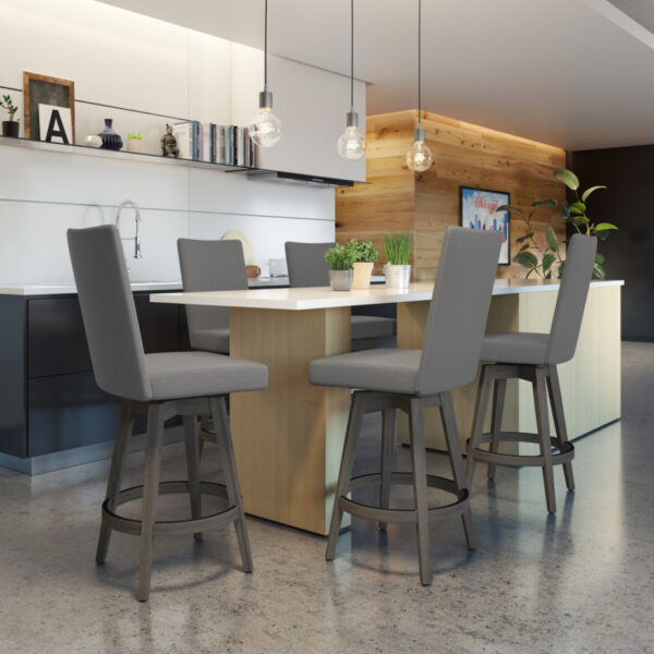 amisco industries, metal furniture, made in canada, custom furniture, bar stool, counter stool, swivel stool, island stool, custom fabric, noah stool