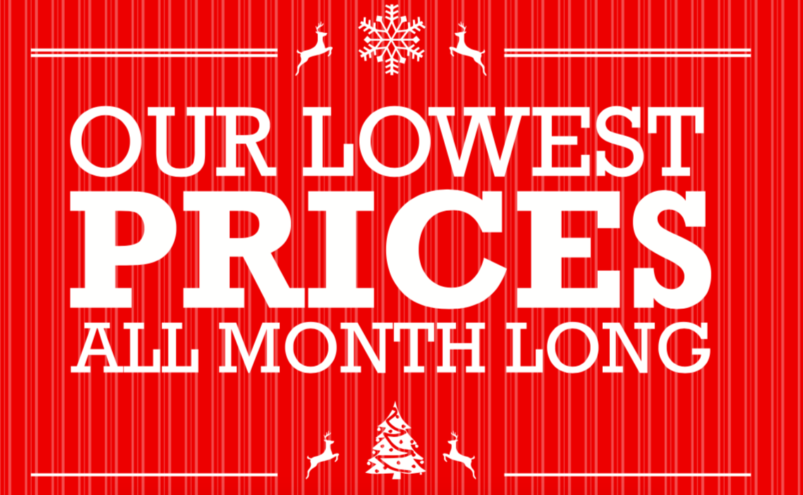 Boxing Month Lowest Prices