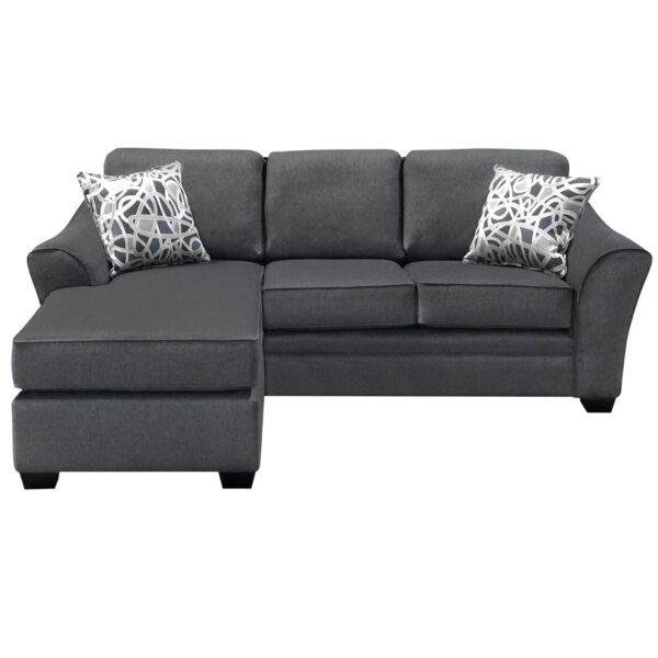 custom built tyson sofa with chaise on left side