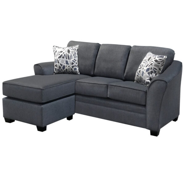 canadian made tyson sofa with chaise and comfy sloped arms