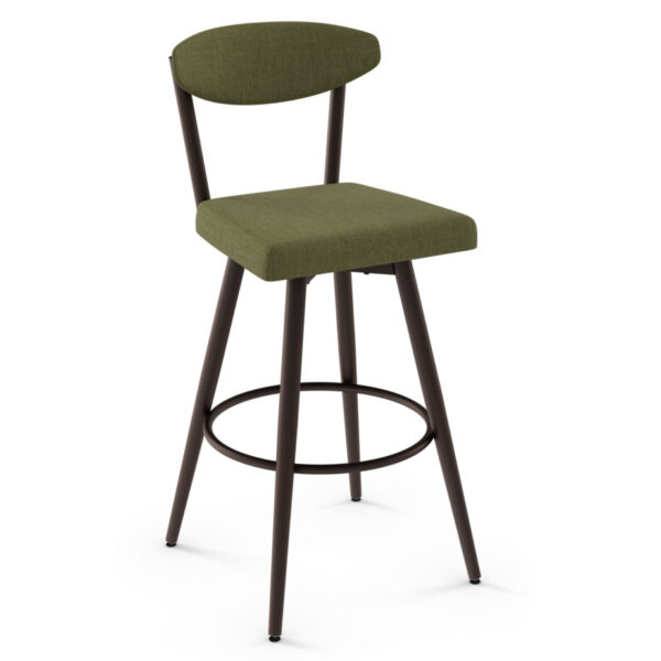 amisco industries, metal furniture, made in canada, custom furniture, bar stool, counter stool, swivel stool, island stool, custom fabric, wilbur stool
