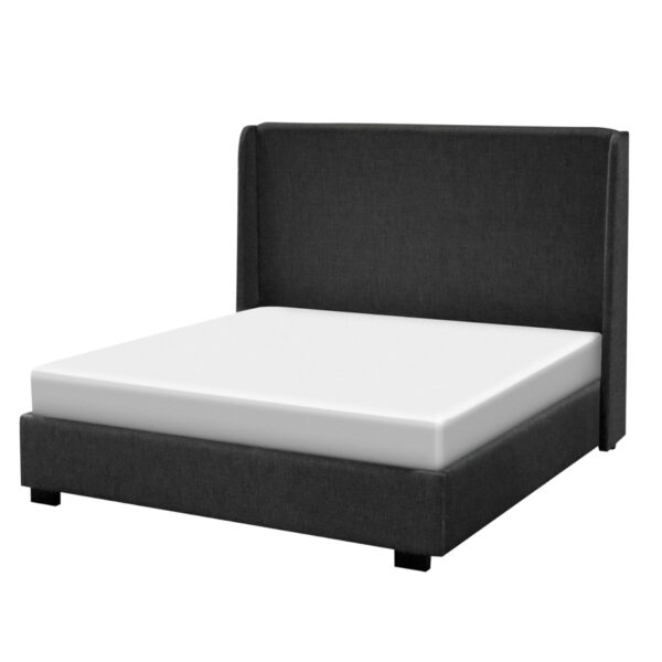 modern abby upholstered bed in king size