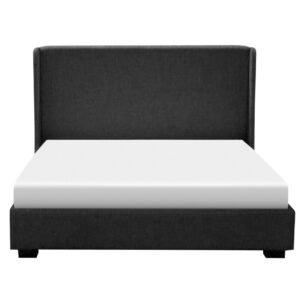 canadian made fabric abby upholstered bed with platform base