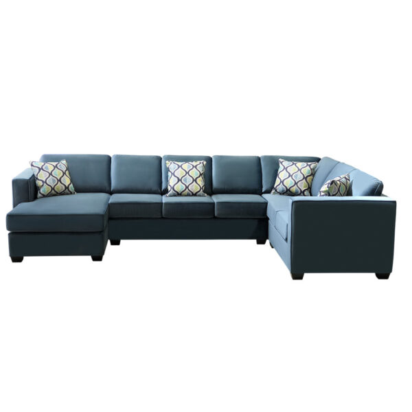 large modular layout design of boston sectional in custom fabric