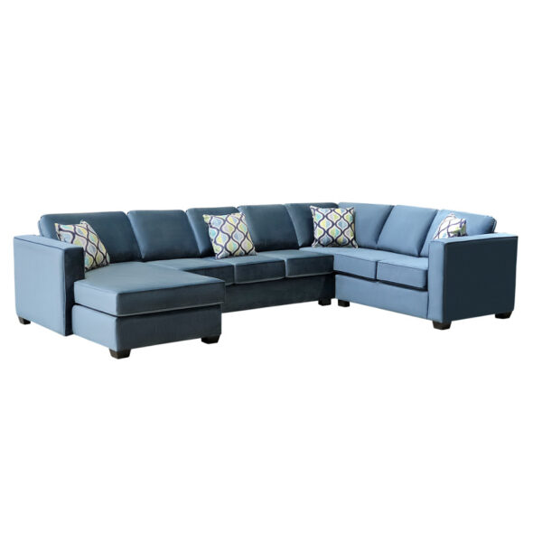 canadian made boston sectional in custom layout and modern fabric option
