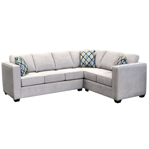 custom size boston sectional with square tall arms