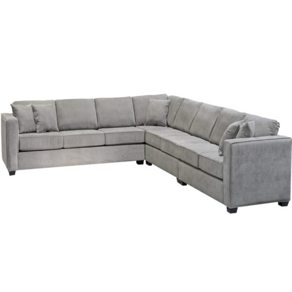 oversized boston sofa with custom sized pieces in modern fabric option