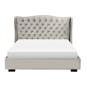 edmonton furniture store, edmonton furniture stores, furniture on salecustom bed, upholstered bed, deep tufted headboard, traditional bed, fabric bed, master bedroom, catalina upholstered bed