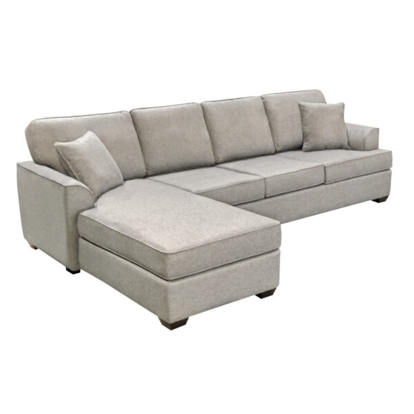 clean and simple design denver sofa with chaise showing long sofa