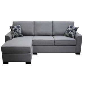 bestselling moberly sofa with chiase shown with custom toss pillows
