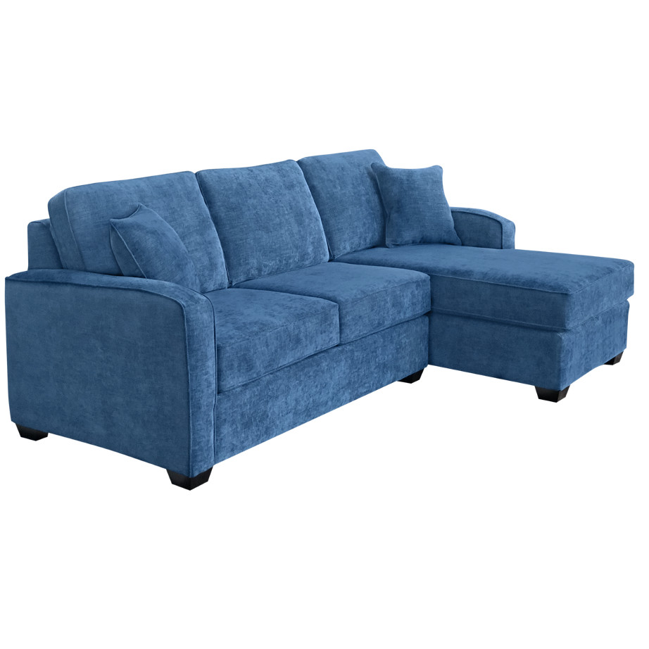 custom sofa, sofa with chaise, made in canada, elite sofa designs, canadian made furniture, oakland sofa with chaise