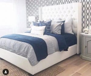 elit designs panama king tufted fabric bed