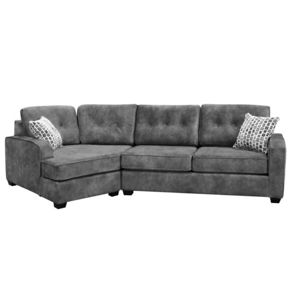 custom built havana sofa with cuddler in sectional design